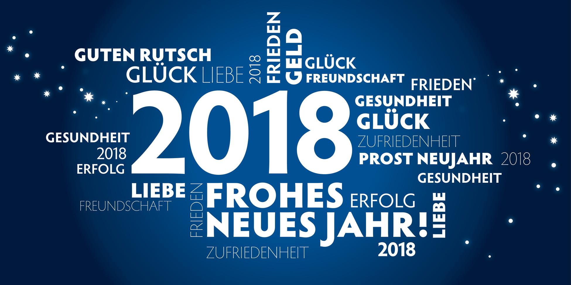 Wir wünschen Euch ein Frohes Neues Jahr 2018!