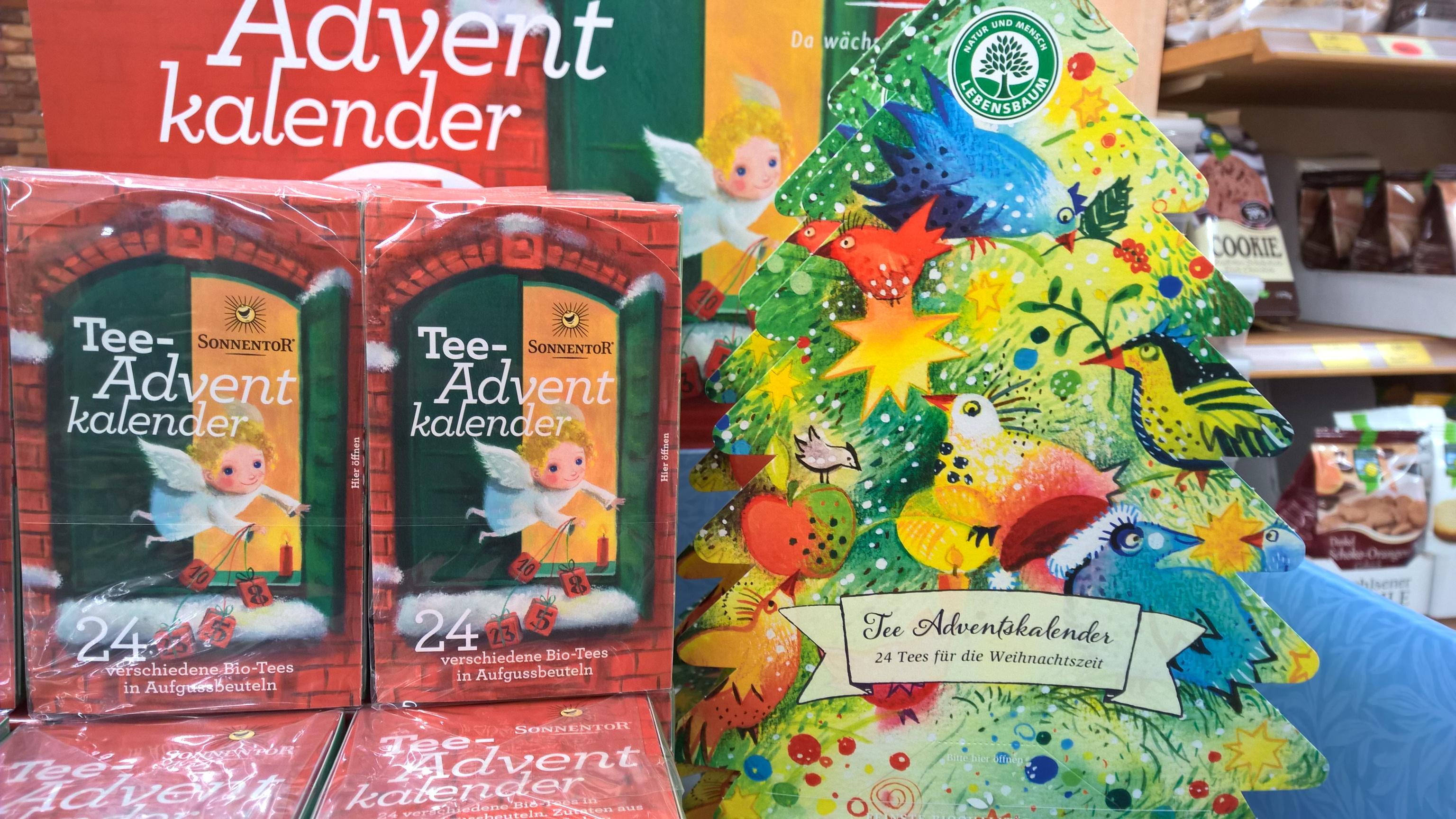 Die beliebten Tee-Adventskalender
