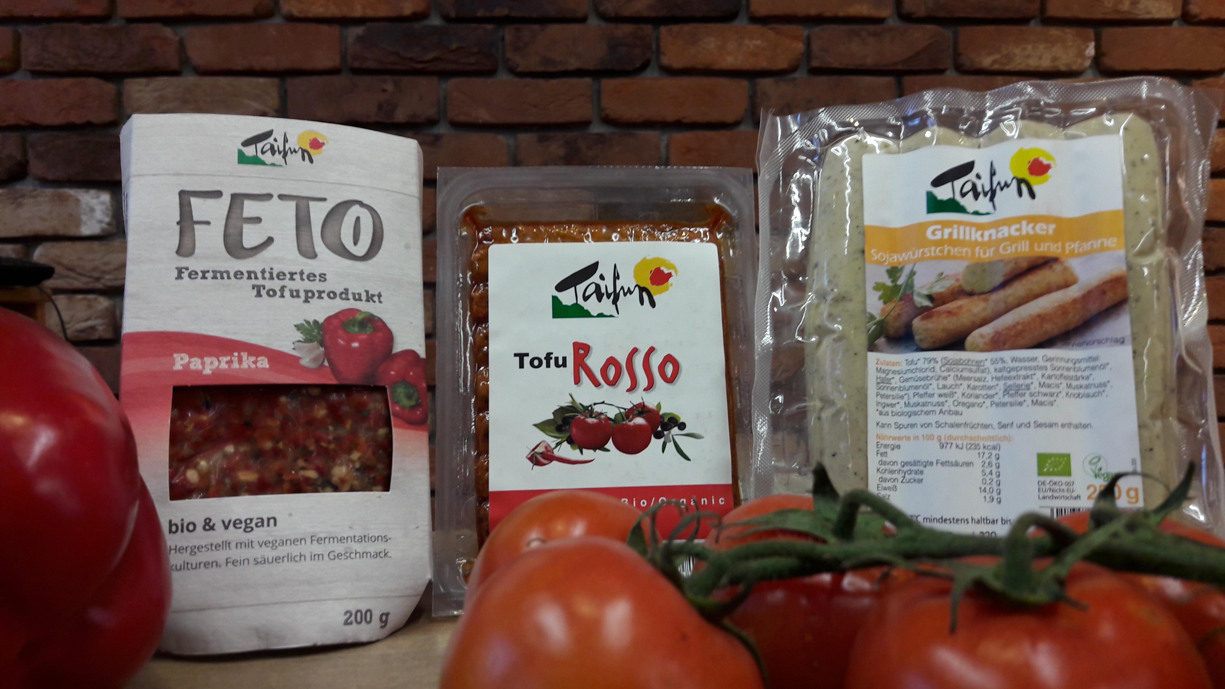 Tofu von Taifun – der temperamentvolle und natürliche pflanzliche Wirbelwind. Probieren Sie bei uns am 07. April 2017 köstliche Variationen
