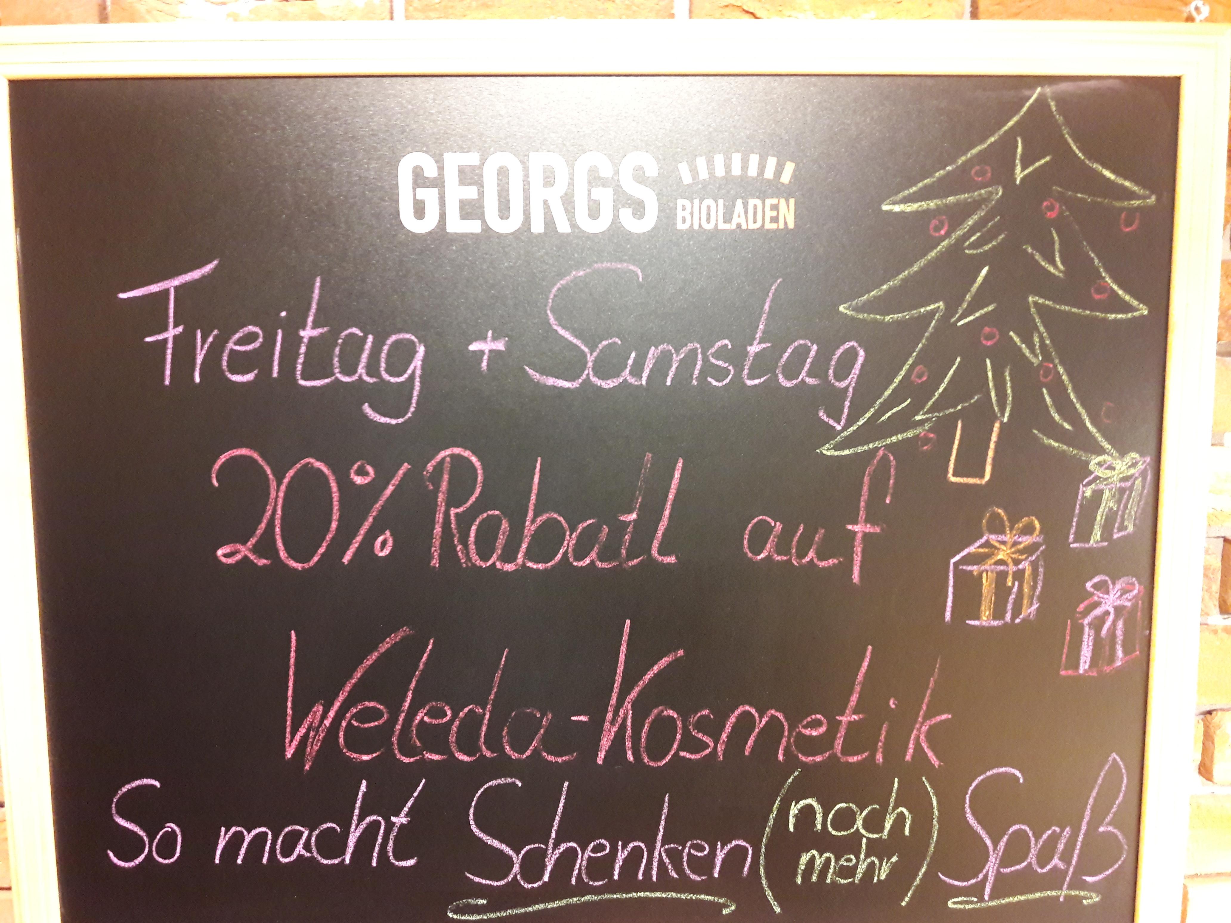 Tolle Geschenkideen von Weleda zu Weihnachten! Am Freitag, den 01. und Samstag, den 02. Dezember 2017 20% sparen!