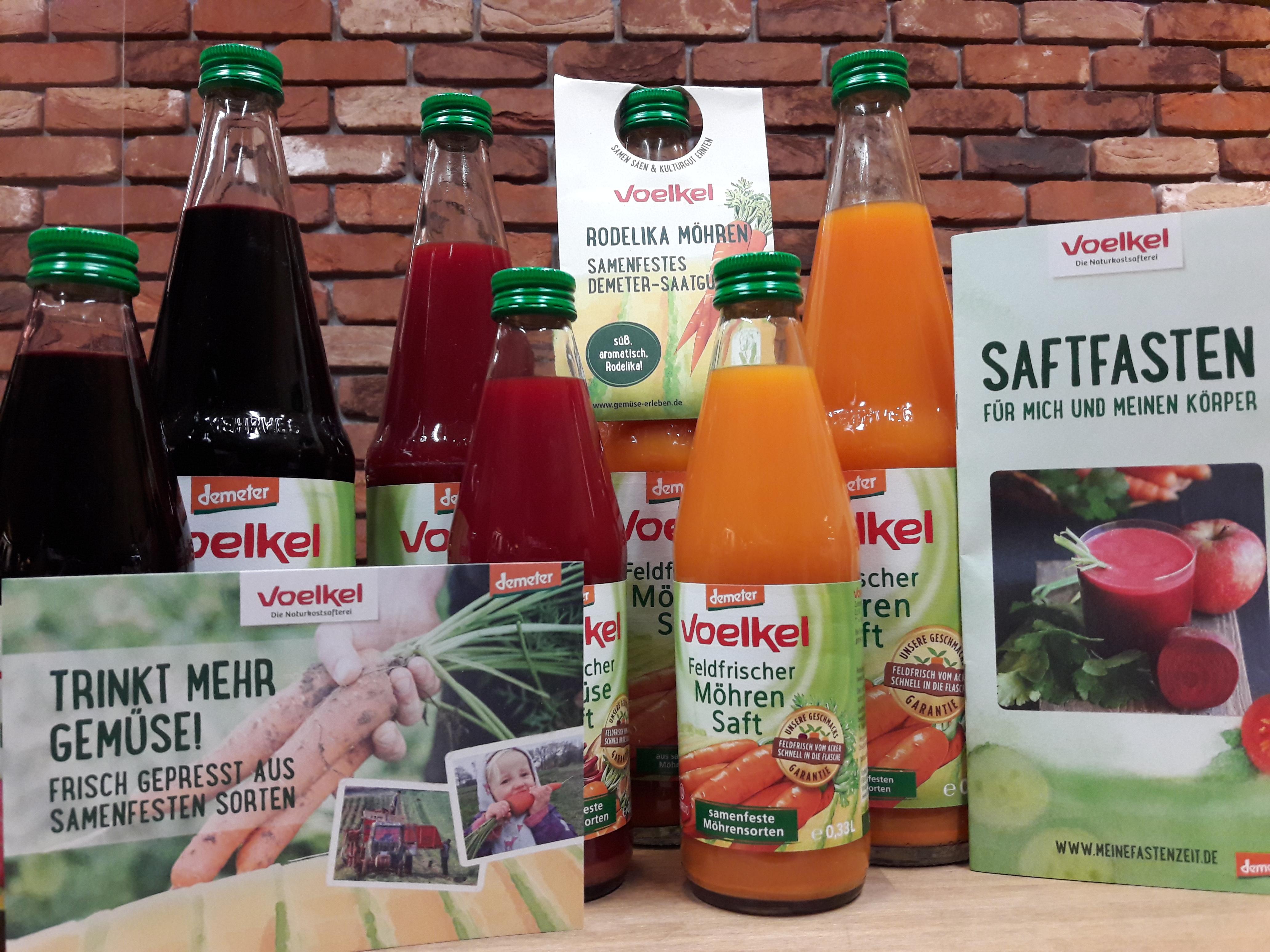 Nährstoffreich und lecker: Tanken Sie Energie mit unseren erntefrisch gepressten Voelkel Bio-Gemüsesäften!