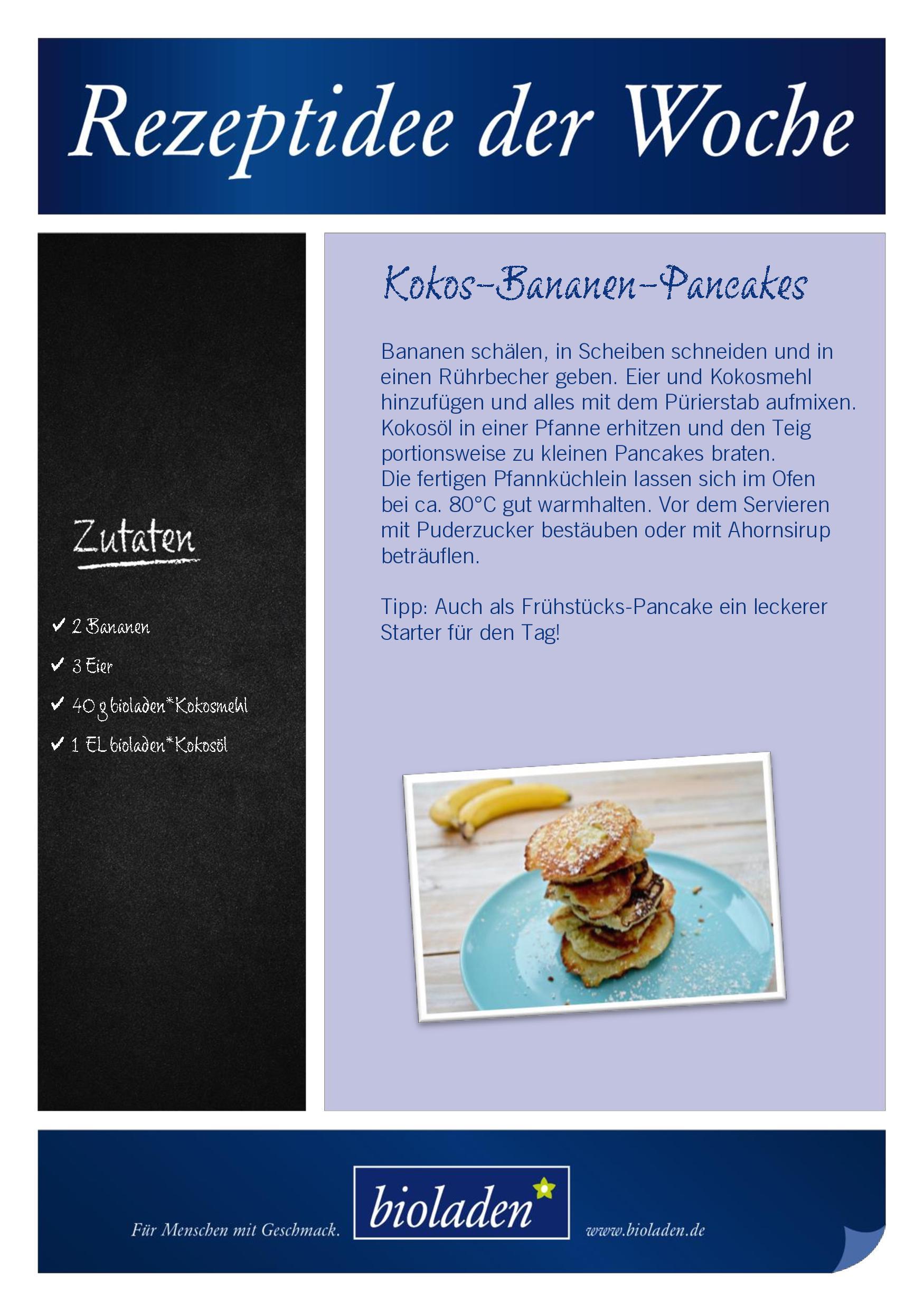 Haben das Zeug zum Lieblings-Biofrühstück: Leckere Kokos-Bananen-Pancakes
