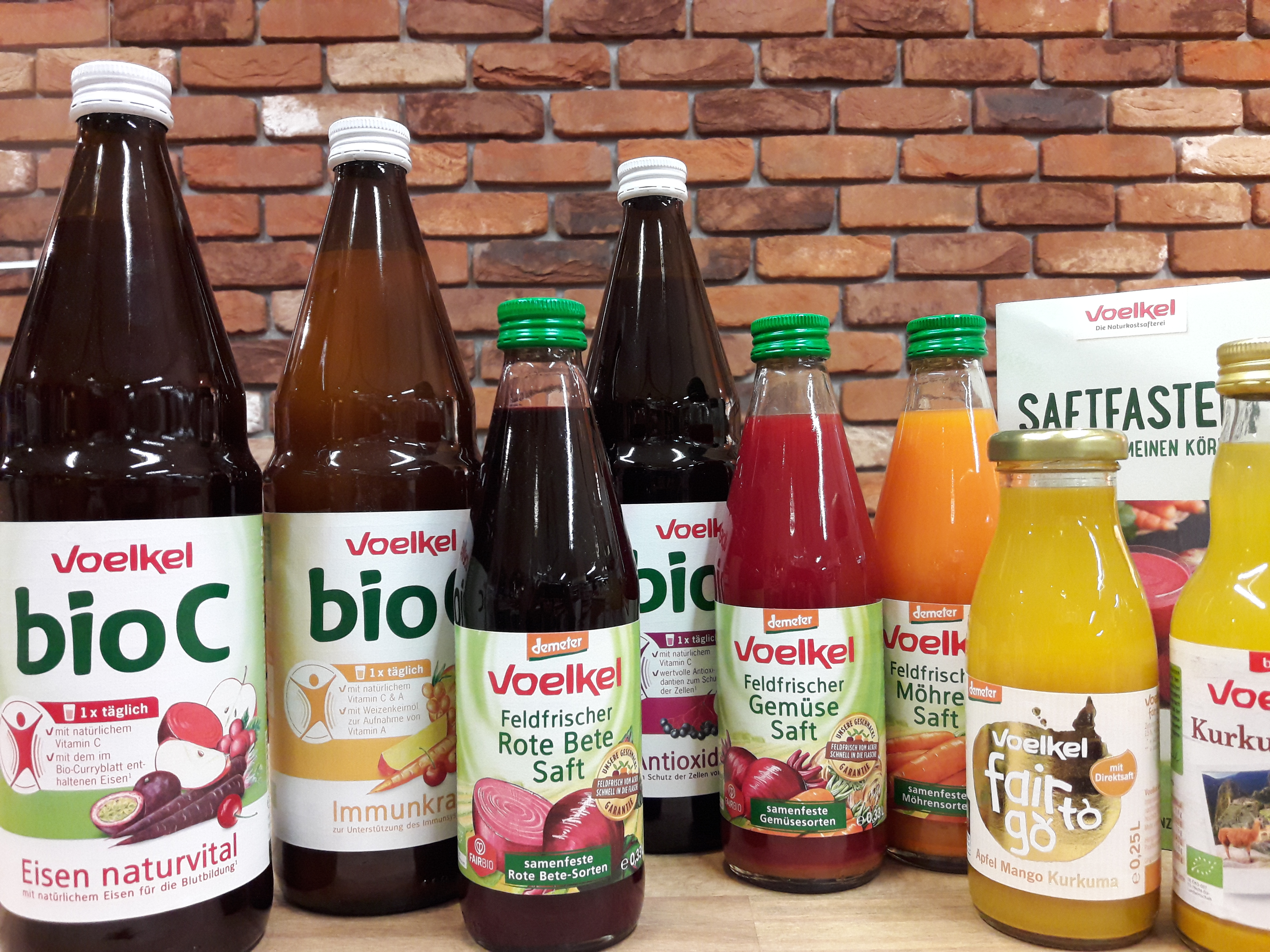 Hier bekommen Sie wirklich gesunde Vitamine! Voelkel-Biosaftverkostung am Freitag, den 16. März 2018