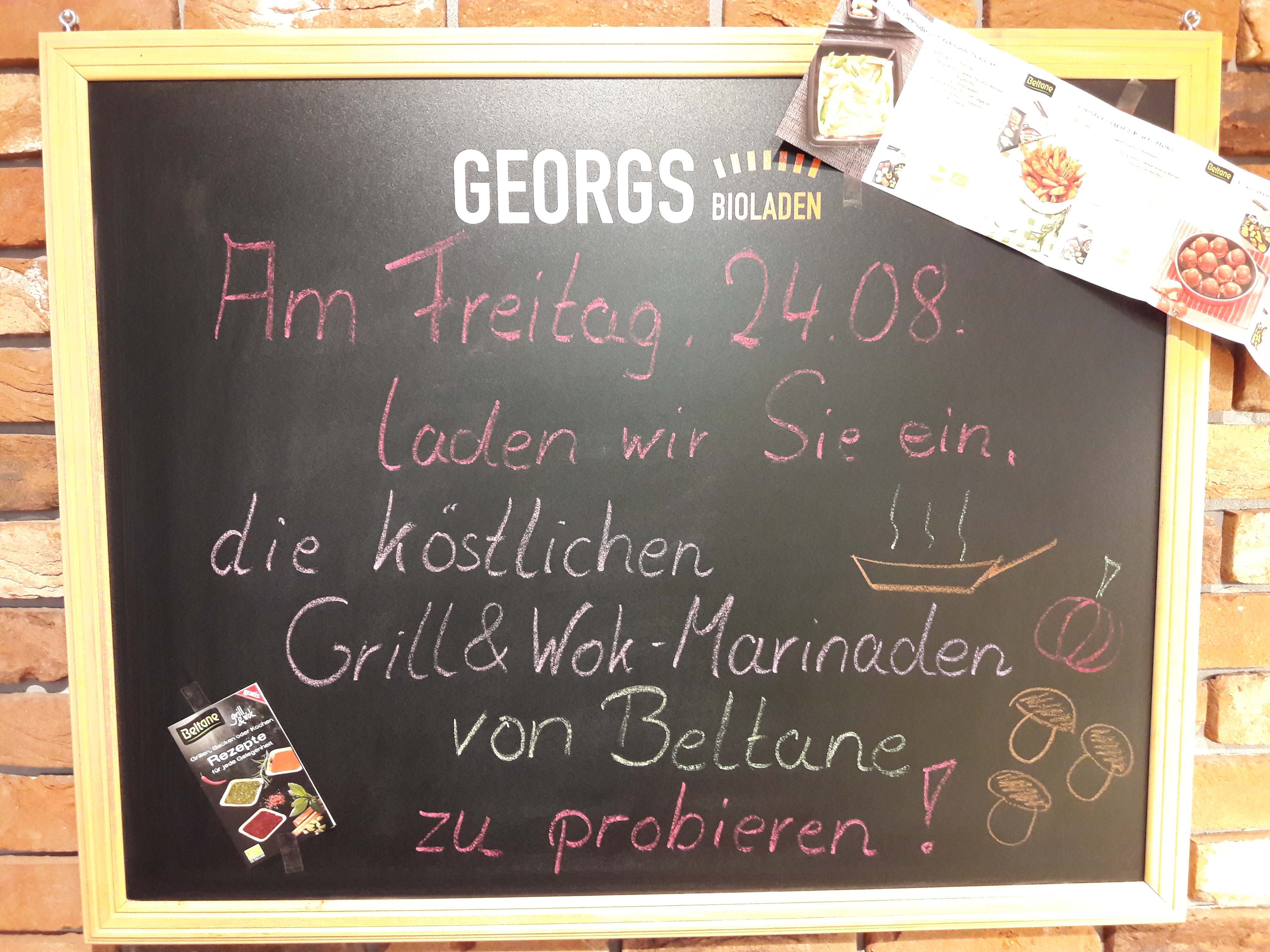 Mit den Bio Grill- & Wok-Marinaden von Beltane zum perfekten Geschmack! Lassen Sie sich am Freitag, den 24. August 2018 faszinieren und verführen!