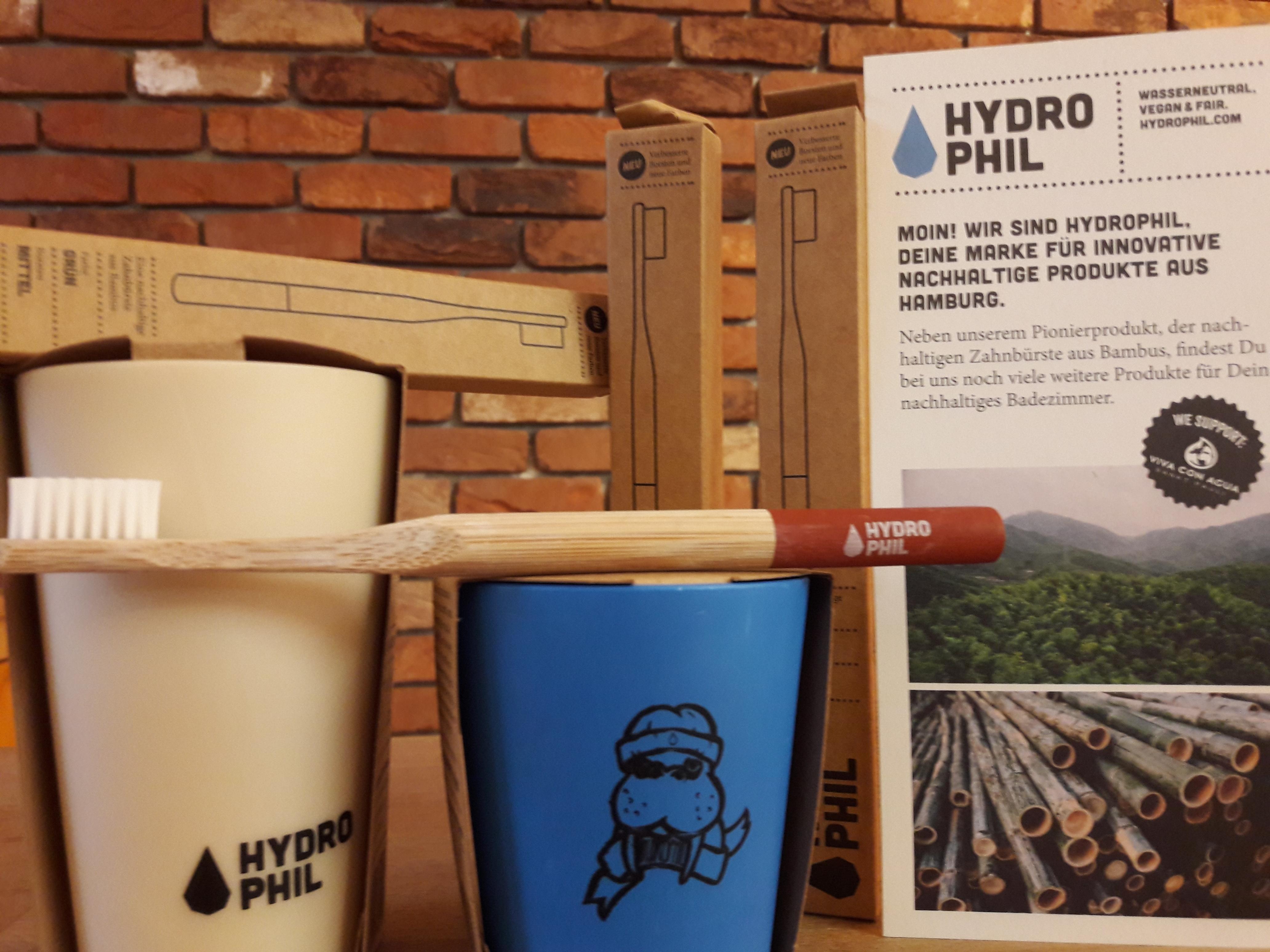 Die Welt schon direkt nach dem Aufstehen ein bißchen besser machen: mit Zahnbürsten von Hydrophil