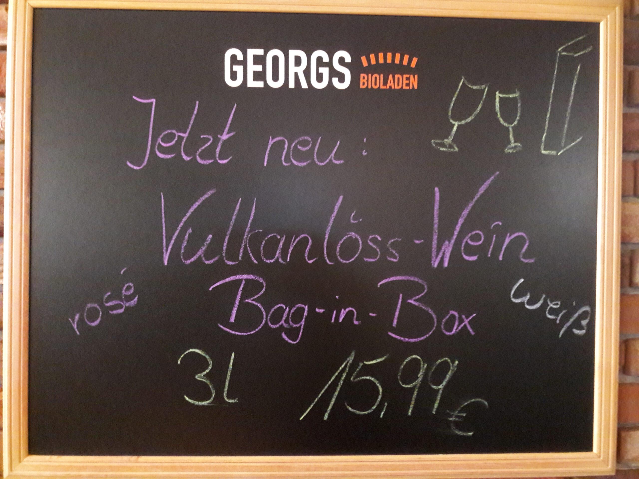 Bag-in-Box in Georgs Bioladen: Martin Schmidts Badener Bioweine bieten umweltfreundliche Verpackung