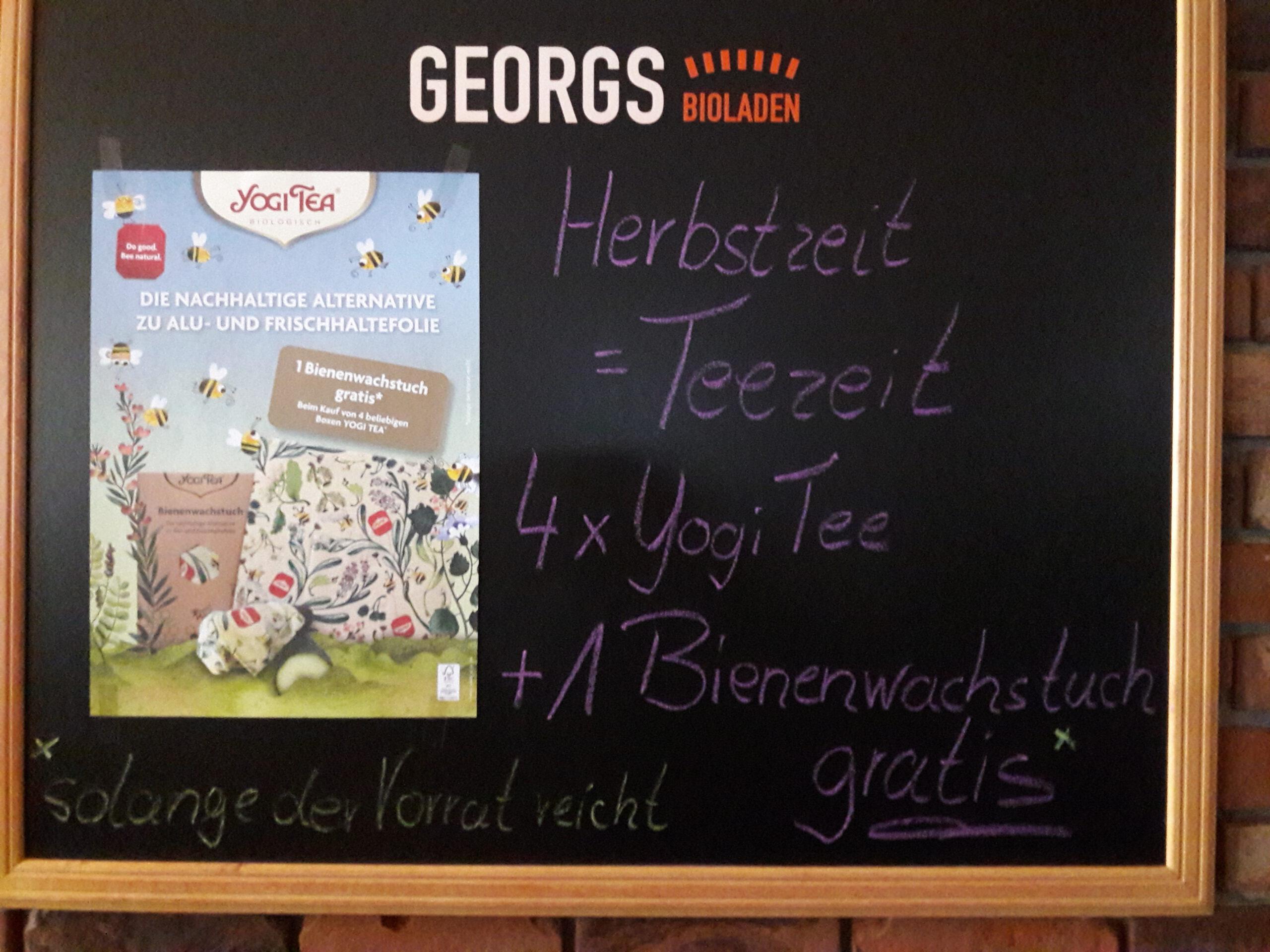 Herbstzeit ist Yogi-Teezeit. Der Knüller: 4 Packungen kaufen, Bienenwachstuch gratis!