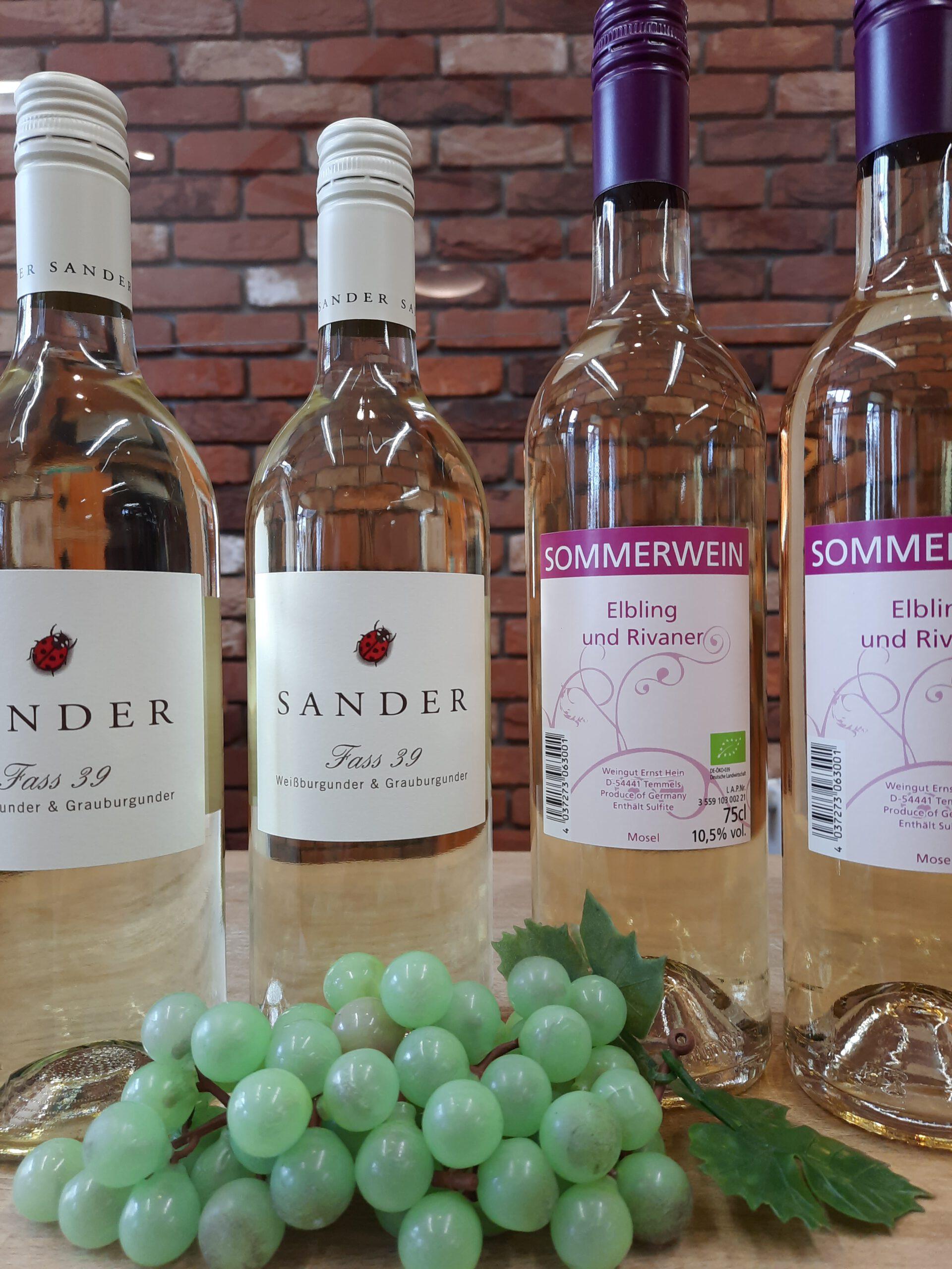 Eine perfekte Kombination: Fass 39 vom Bio-Weingut Sanders und der Bio-Sommerwein aus dem Weinhaus Ernst Hein!
